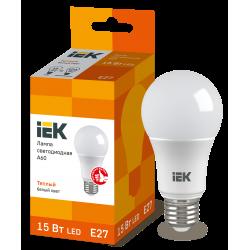 Лампа светодиодная A60 шар 15Вт 230В 3000К E27