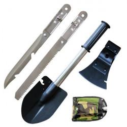 Лопатка туристическая нож пила топор 4 в1