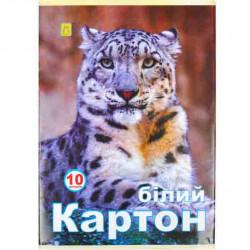 КАРТОН БЕЛОСНЕЖНЫЙ 10 ЛИСТОВ