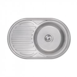 Кухонная мойка Lidz 7750 Satin 0,8 мм (LIDZ7750SAT)