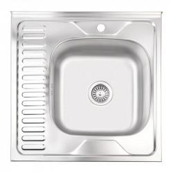 Кухонная мойка Lidz 6060-R Satin 0,6 мм (LIDZ6060RSAT06)