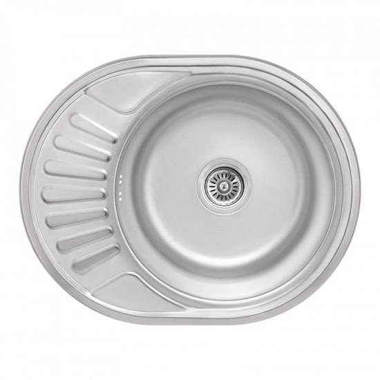 Кухонная мойка Lidz 5745 Micro Decor 0,8 мм (LIDZ5745MDEC)