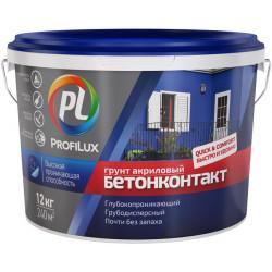 Грунт Бетонконтакт акриловый PROFILUX 12кг (Россия)