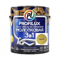 Молотковая эмаль 3в1 Profilux 0,8кг Золотая, Россия