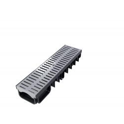 XDRAIN 130/50 канал с пластм. серой решеткой 0,5м