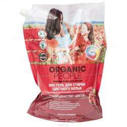 Organic People Гель Эко для стирки цветного белья, дой-пак 2л