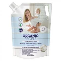 Organic People Гель Эко для стирки белого белья, дой-пак 2л